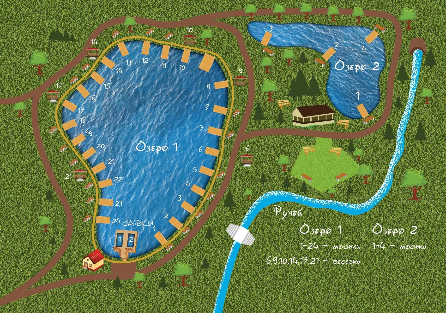 Рыболовная усадьба остров схема